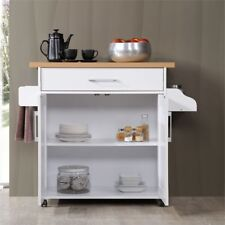 Hodedah Kitchen Island White