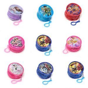 Childrens Kids Character Round Coin Wallet Purse Clip PVC Front LOL Avengers Paw
