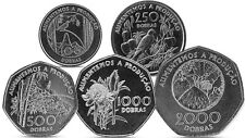 SAN SAO TOME AND PRINCIPE 100, 250, 500, 1000, 2000 DOBRAS 5 COINS SET 1997 UNC