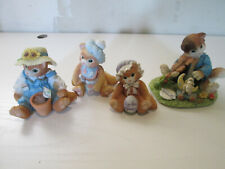 Vintage Collectable Calico Kittens (4) Figurines Lot #1