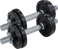 Fitforce Kurzhantel Set 2 x 7,5kg Fitness Hantel 4x1,25kg 4x1,5kg Hantelstange
