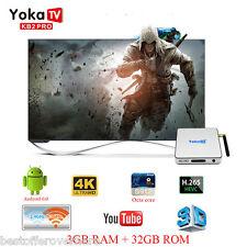 YOKA KB2 PRO 3GB+32GB 4K UHD TV Box Android 6.0 Amlogic S912 Octa Core Dual WiFi