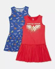 New 2 Lot Of Wonder Woman Girl's dresses (M)