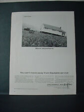 1964 Equitable Life Insurance move whole House on Trailer Vintage Print Ad 11435