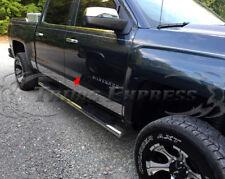 """14-18 Chevy Silverado Crew Cab 5.8' Short Bed Rocker Panel Trim-5.5"""" Chrome"""