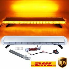 "47"" 88W LED Strobe Light Bar Amber/Yellow Emergency Beacon Hazard Warning Flash"