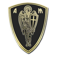 ARCHANGEL ST.MICHAEL CROSS CHRISTIAN SAINT PROTECTION SHIELD LAPEL PIN GIFT BOX