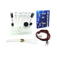 DIY Electronic Kit - Sound activated high brightness flasher blue LED &NEU I7K3