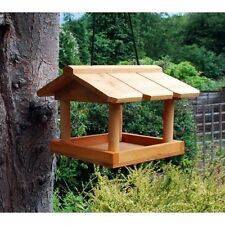 HANGING WOODEN BIRD TABLE GARDEN WILD BIRDS TREE BRACKET HANG FEEDING STATION