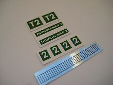 Dinky 101 - Thunderbird 2 & Engine Bar Stickers - B2G1F