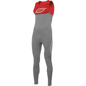 Slippery Breaker Wetsuit Charcoal/Red  All Sizes
