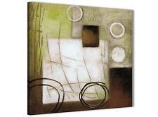 Brown Green Painting Abstract Dining Room Canvas Accessories 1s421l - 79cm