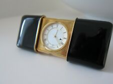 NEU - NEPRO Reisewecker Uhr Travel Clock Gold Lack - NEW