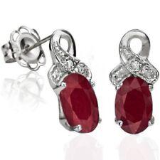 Ohrringe/Ohrstecker Jamie, 925er Silber, 1,26 Kt. echter Rubin/Diamant