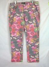 JANE DOE Jeans Size 15 Pink Yellow Green Gray Floral Print Stretch NEW #330