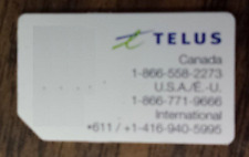USED TELUS HSPA SIM CARD RESTORING TEST CELL PHONES BOOT BYPASS UNLOCK UNLOCKING