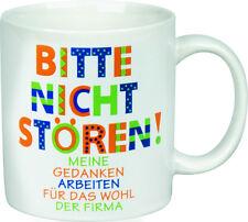 Wächtersbach Henkelbecher BITTE NICHT STÖREN Tasse Kaffeetasse Becher Sprüche