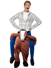 Horse Piggy Back Ride On Me Mascot Mens Fancy Dress Carry Costume Stag Do