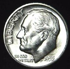 1955-S 10C Roosevelt Dime BU 90% Silver 21owt0323-3 70 Cents Shipping