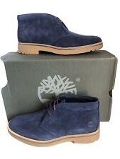 Men's Timberland Folk Gentleman Chukka Boots Blue Suede Size 6.5 UK