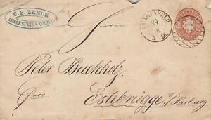 alter Brief GA 1866 Sachsen Lengenfeld - Estebrügge Harburg Hamburg 335