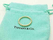 Tiffany & Co. 18k Yellow Gold Ziegfeld Bead Beaded Stacking Ring Band Size 7