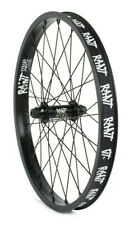 "RANT PARTY ON V2 BMX BIKE 20"" FRONT WHEEL SHADOW SUBROSA CULT KINK HARO BLACK"