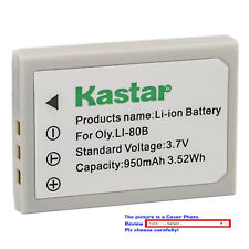 Kastar Replacement Battery for Olympus Li-80B Battery Olympus Li-80C Charger