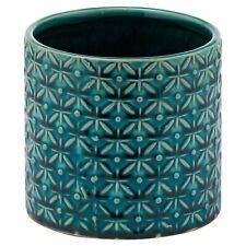 Ceramic glazed PLANT POT teal blue indoor planter home decor display