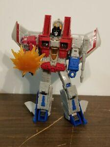"Transformers STARSCREAM FIGURE Voyager Class Earthrise: War For Cybertron 6"""