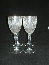 """Waterford Marquis HANOVER Platinum 4-7 5/8"""" Wine Glasses Crystal Classic EUC"""
