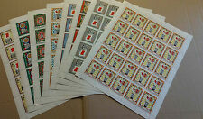 Sharjah 1968 Shaikh Khalid, Flag And Arms 8 Different MNH Full Sheets #V4118