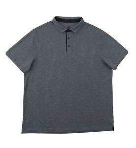 Champion Polo Shirt Men's XXL Short Sleeve Grey Golf Button Up