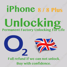 EXPRESS UNLOCK UNLOCKING CODE SERVICE FOR IPHONE 8 8 + Plus  O2 TESCO UK