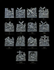 14  Stations of the Cross Cold cast bronze resin Brand-new set of 14
