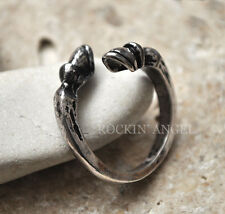 Antique Silver Plt Horse Hoof Ring  / Thumb Ring Adjustable Ladies gift