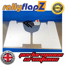 Rally Style Mudflaps to fit FORD FOCUS RS 300 (09-11) White 4mm PVC Mud Flaps x4