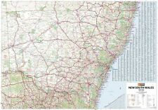 (LAMINATED) SUPER MAP OF NEW SOUTH WALES STATE AUSTRALIA GIANT POSTER 100x140cm