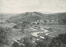 Festiniog Valley North Wales 1900 Single Sided Antique Print SASI#251 Ffestiniog