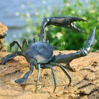 Huge Crab Garden Sculpture Metal Statue Coastal Nautical Tropical Beach Decor