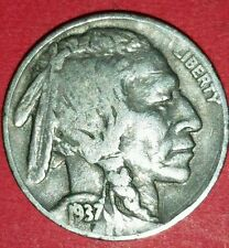 1937 Philadelphia Mint Buffalo Nickel   ID #13-82