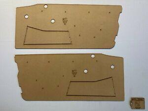 Alfa Romeo 2600 Spider Sprint x2 Door Cards Blank Trim Panels. Quality Masonite