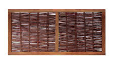 Framed Woven Willow Hurdle Garden Fencing Panel 6ft Screening Wooden Fence