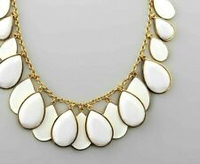 Kate Spade Petal Pusher Necklace NWT Fabulous Faceted White Cascading Teardrops!