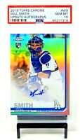 2019 Topps Chrome Update Refractor Auto Dodgers WILL SMITH Card PSA 10 GEM MINT