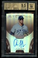 2013 Bowman Sterling Aaron Judge Ruby Rookie Refractor /99 BGS 9.5 Auto 10 RC