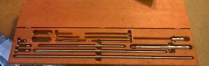 "Starrett No.124-C 2""-32"" Inside Micrometer Solid Rod Inspection Machinist Lathe"