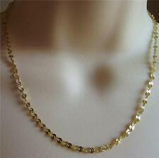 "VERONESE ITALY SIGNED ""V"" YELLOW GOLD PLAT STERLING SILVER NECKLACE 45cm NEW QVC"