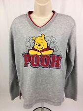 Disney Velveteen Embroidered Pooh Women's V-Neck Long Sleeve Pull Over Size Sm