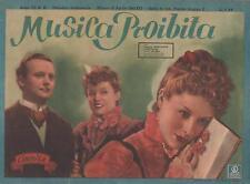 cinevita 55  MUSICA PROIBITA  maria mercader  tito gobbi  1943